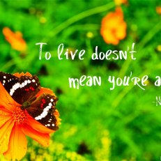 To live doesn't mean you're alive. -Nicki Minaj