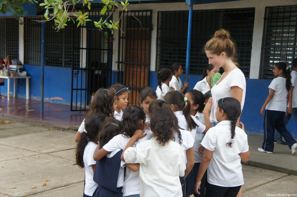 A Nicaraguan Relay Race on the Playground