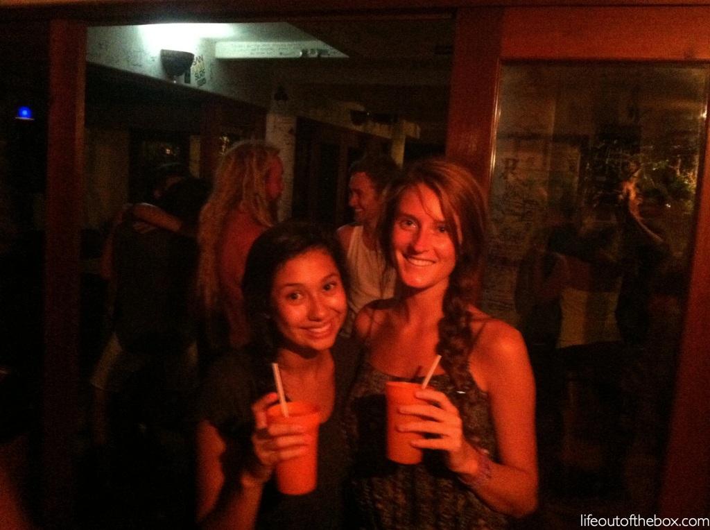 Drinks at Naked Tiger in San Juan del Sur
