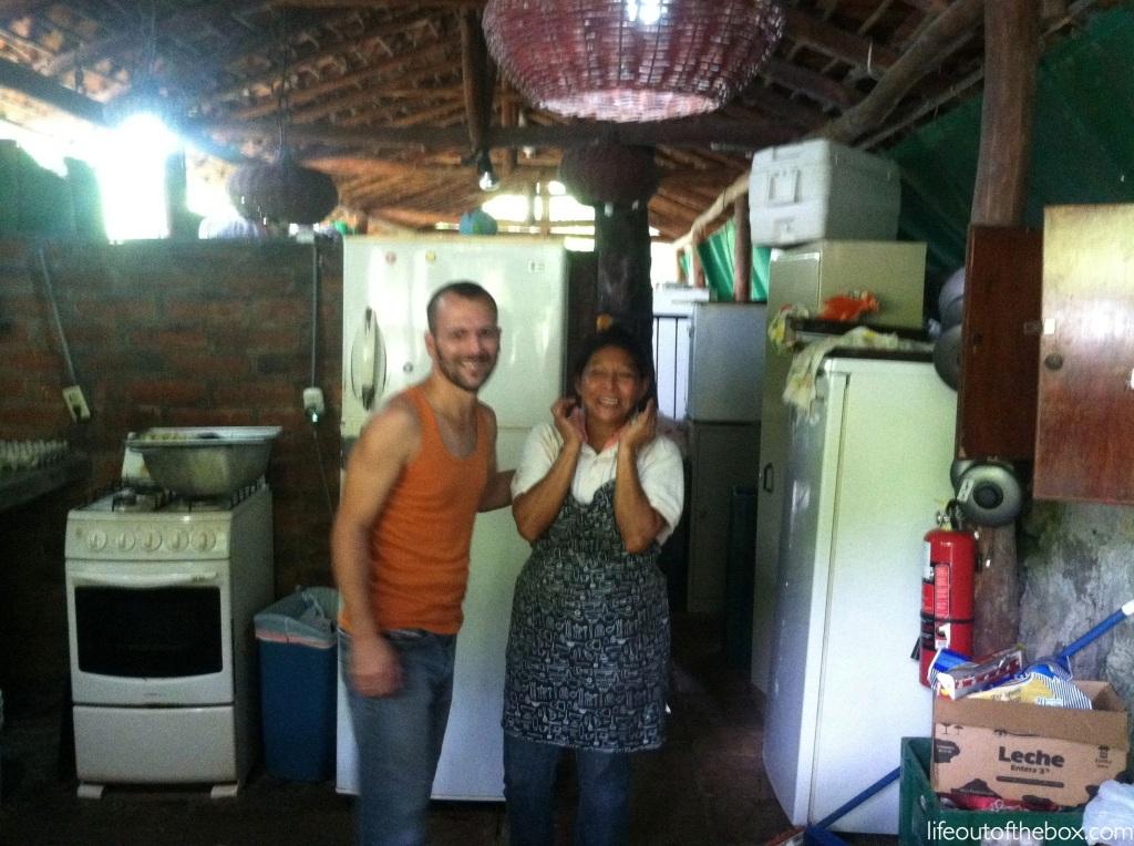 Saying goodbye to friends in Laguna de Apoyo