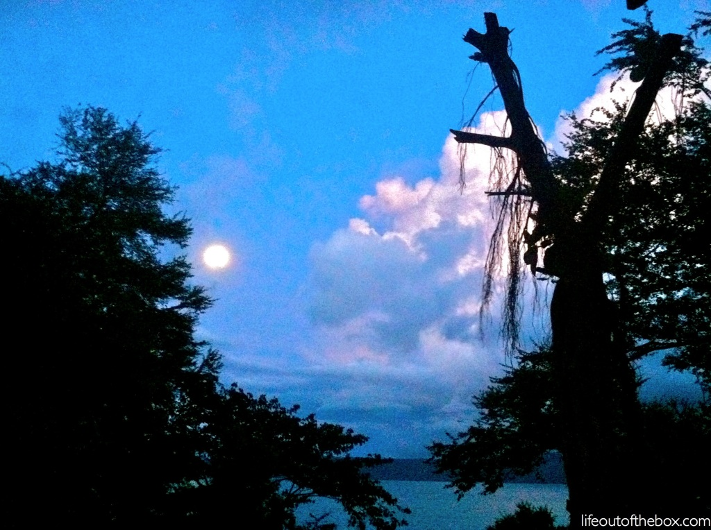 Blue moon over Laguna de Apoyo, Nicaragua