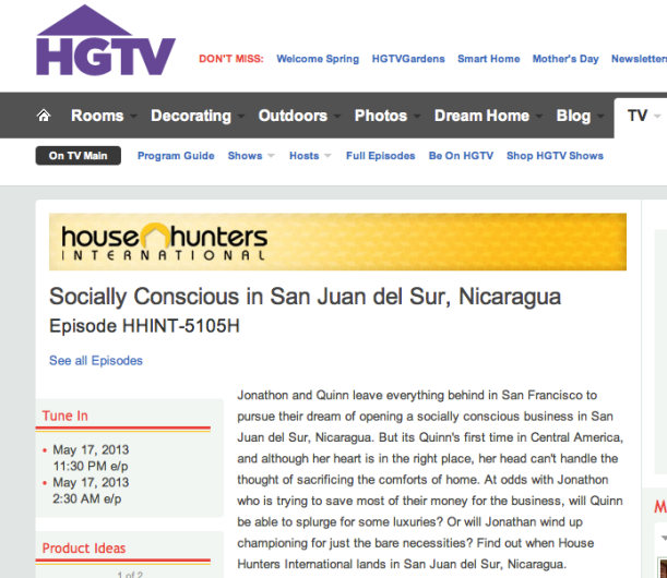 Life Out of the Box in the Press on House Hunters International