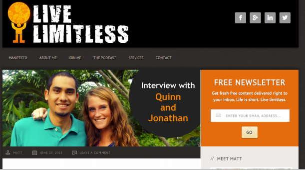 Live Limitless Podcast Interview with Quinn & Jonathon of Life Out of the Box. LOOTB Press.