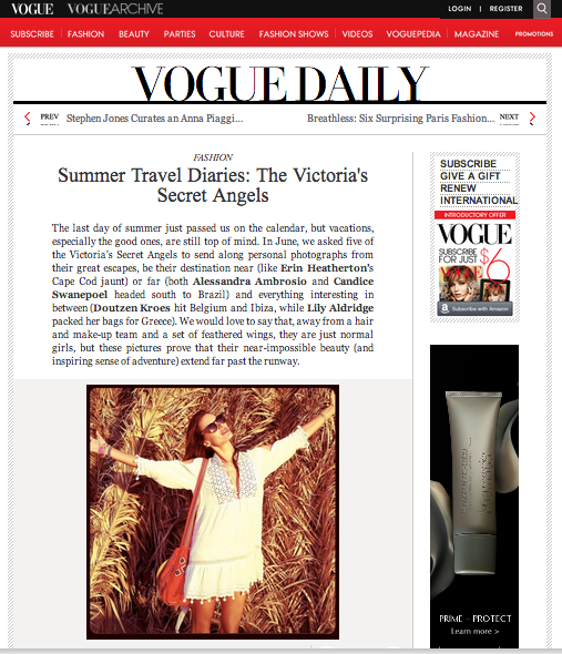 Life Out of the Box in Vogue with Alessandra Ambrosio wear LOOTB bracelet