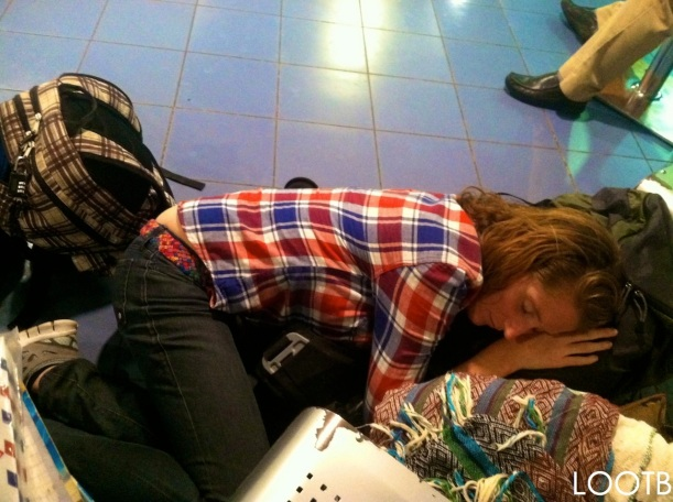 LOOTB Sleeping in the Managua Airport