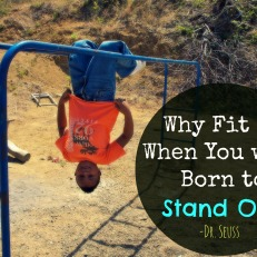 Why fit in when you were bron to stand out? -Dr. Seuss