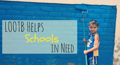 LOOTB Helps Schools in Need. Quinn and Jonathon
