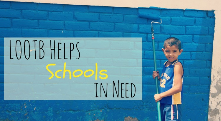 LOOTB Helps Schools in Need. Quinn and Jonathon