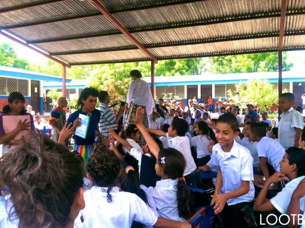 LOOTB at a Mobile Library Launch in Esteli, Nicaragua