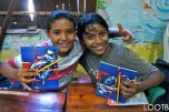 BPP kids stoked about their new notebooks
