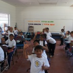 All the kids in Escuela Emanuel who got LOOTB notebooks in class!