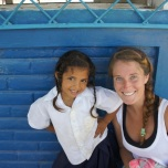 Quinn at Escuela El Baston with the San Juan del Sur Library in Nicaragua