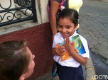 The very first little girl we ever gave a LOOTB notebook to in Masaya Nicaragua.