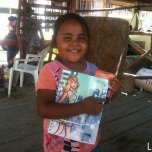 This little cutie got a school supplies kit just before school started in San Juan del Sur, Nicaragua