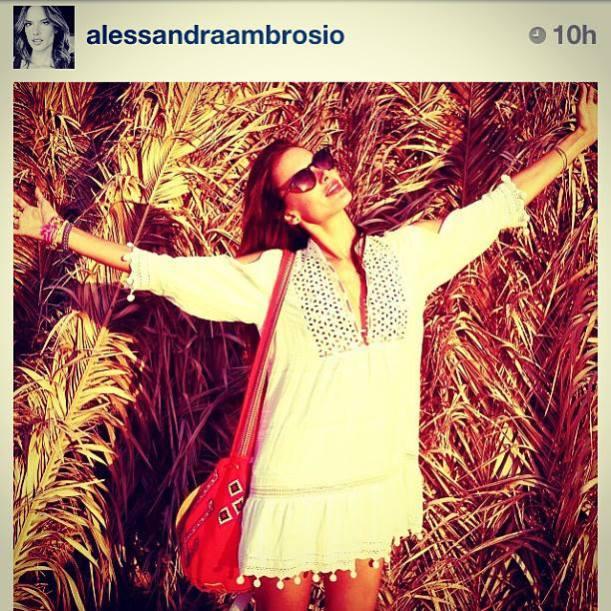 Alessandra Ambrosio wearing Life Out of the Box in her LOOTB bracelet Pretty PINK available on lootb.com