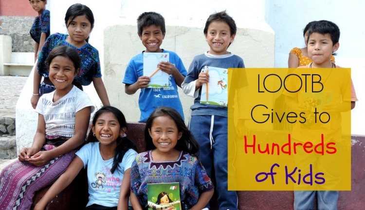 LOOTB gives to hundreds of kids in Guatemala. Life Out of the Box.