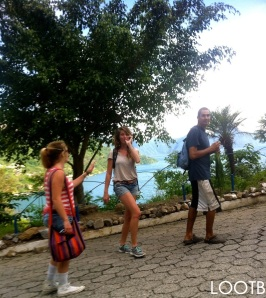Goofing around on the hike around Lake Atitlan!