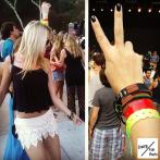 Rockin out at a concert in LA