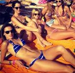 Victoria's Secret model rocking her Pretty PINK LOOTB bracelet again in Greece!!