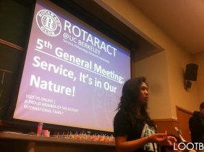 Life Out of the Box presents at university rotaract clubs. LOOTB.